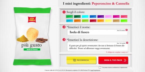 San carlo lancia crea il tuo gusto e il consumatore for San carlo crea il tuo gusto