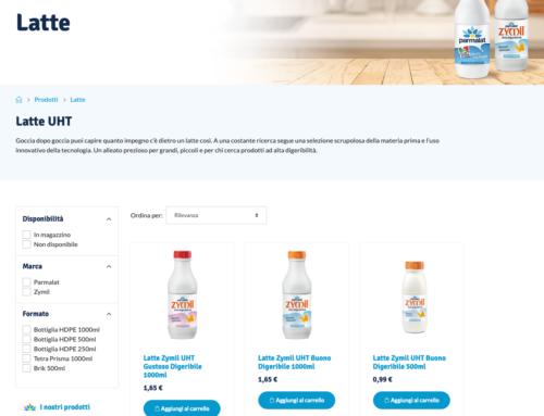 Parmalat lancia il negozio online