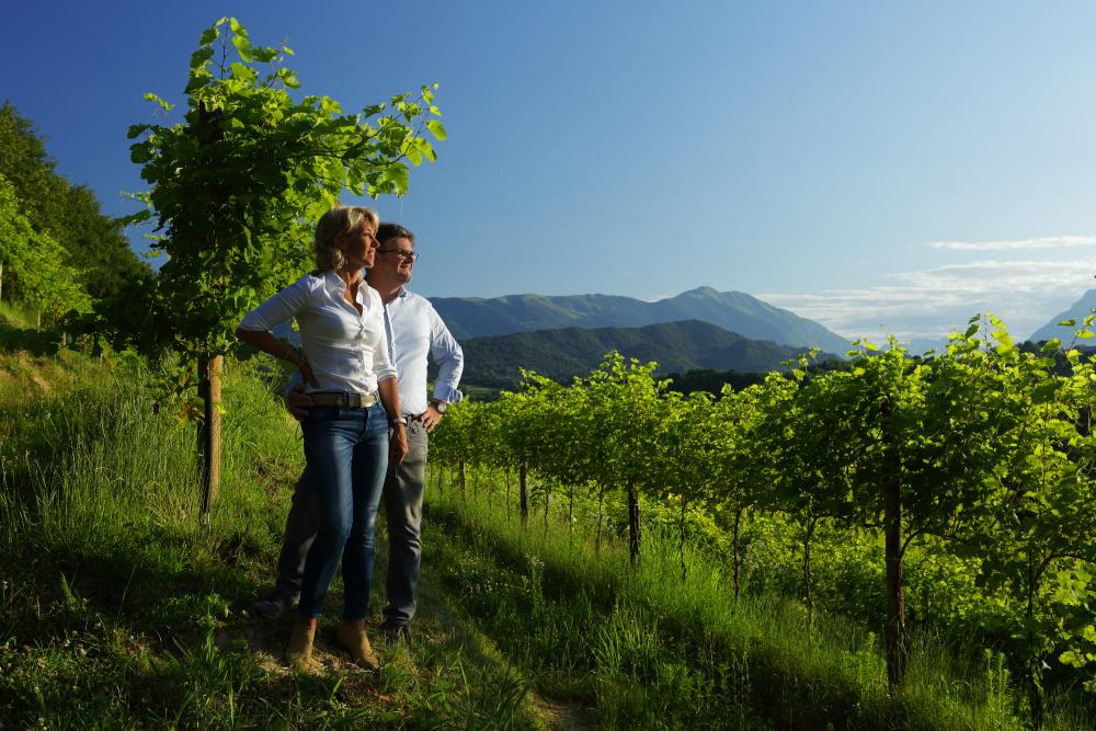 Ernesto Balbinot con la moglie Silvana Ceschin