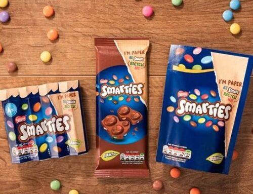 Per gli Smarties di Nestlè confezioni in carta green
