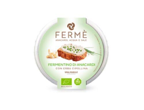 Euro Company: arriva a scaffale lo spalmabile Fermè, a base di anacardi ed erba cipollina