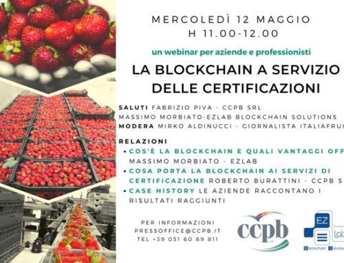 'La blockchain a servizio delle certificazioni': il webinar di Ccpb