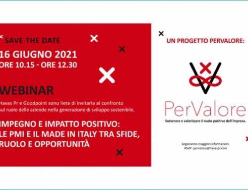 Pmi e made in Italy tra sfide, ruolo e opportunità. Il webinar organizzato da PerValore punta su Csr e sostenibilità