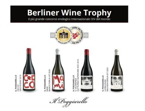Medaglia d'oro per quattro etichette de Il Poggiarello al Berliner Wine Trophy 2021
