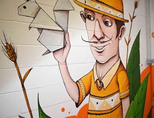 Raviolificio Scoiattolo: il nuovo murales racconta l'azienda